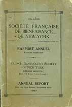 Thumbnail image of French Benevolent Society of NY 1927 Report cover