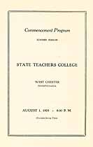 Thumbnail image of West Chester Teachers College 1929 Commencement cover