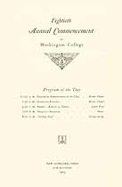 Thumbnail image of Muskingum College 1925 Commencement cover