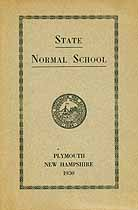Thumbnail image of New Hampshire State Normal School 1930 Catalog cover