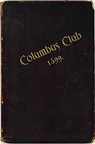 Thumbnail image of Columbus Club 1899 Members cover