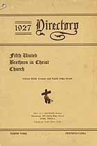 Thumbnail image of Fifth United Brethren in Christ Church 1927 Directory cover