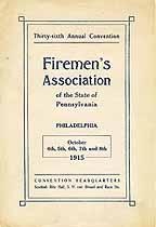Thumbnail image of Pennsylvania Firemen's Association 1915 Convention cover