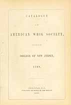 Thumbnail image of American Whig Society 1857 Catalogue cover
