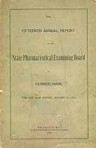 Thumbnail image of Pennsylvania Board of Pharmacy 1903 Annual Report cover