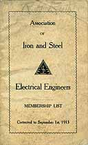 Thumbnail image of Iron and Steel E. E. Assoc. 1913 Membership cover