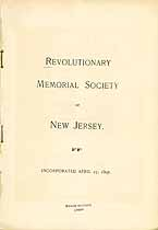 Thumbnail image of Revolutionary Memorial Society of NJ 1897 Members cover