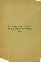 Thumbnail image of New York City Bar Association 1900 Members cover