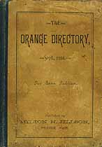 Thumbnail image of The Sept. 1888 Orange Directory cover