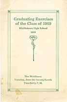Thumbnail image of Middletown High School 1919 Graduating Exercises cover