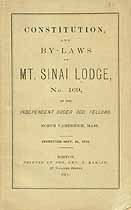 Thumbnail image of Mt. Sinai Lodge, No. 169 of I.O.O.F. 1875 Roster cover