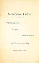 Thumbnail image of Swarthmore College 1894 Commencement cover