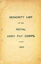 Thumbnail image of Royal Army Pay Corps 1925 Seniority List cover