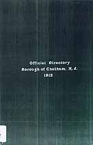 Thumbnail image of Borough of Chatham (NJ) 1912 Directory cover