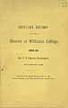 Thumbnail image of Williams College 1892 Obituary Record cover