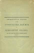 Thumbnail image of Middlebury College 1868 Necrology cover