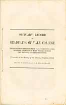 Thumbnail image of Yale College 1869 Obituary Record cover