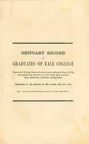 Thumbnail image of Yale College 1874 Obituary Record cover