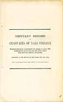 Thumbnail image of Yale College 1876 Obituary Record cover