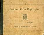 Thumbnail image of IOH Somerville Conclave 1904-1910 Attendance Record cover