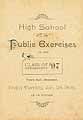 Thumbnail image of Henniker High School 1897 Public Exercises cover
