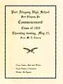 Thumbnail image of Port Allegany High School 1920 Commencement cover