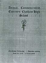 Thumbnail image of Chatham High 1924 Commencement cover