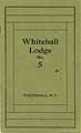 Thumbnail image of Whitehall Lodge No. 5, 1922 Roster cover