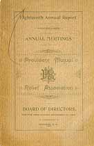 Thumbnail image of Provident Mutual Relief Assoc. 1894 Report cover
