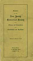 Thumbnail image of New Jersey Historical Society 1916 Membership cover