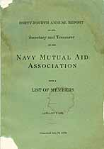 Thumbnail image of Navy Mutual Aid Assoc. 1923 Report cover