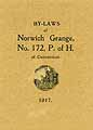 Thumbnail image of Norwich Grange, No. 172, 1917 By-Laws cover