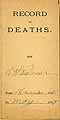 Thumbnail image of Record of Deaths Nov 1888-May 1889 cover