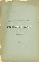 Thumbnail image of Franklin and Marshall College 1900 Obituary Record cover