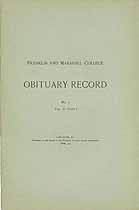 Thumbnail image of Franklin and Marshall College 1901 Obituary Record cover