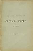 Thumbnail image of Franklin and Marshall College 1907 Obituary Record cover