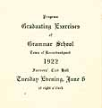 Thumbnail image of Kennebunkport Grammar School 1922 Graduation cover