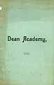 Thumbnail image of Dean Academy 1886 Catalogue cover