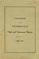 Thumbnail image of Wethersfield Schools 1909-1910 Catalogue cover