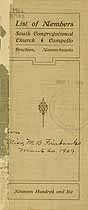 Thumbnail image of South Congregational Church 1906 Members cover