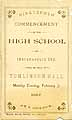 Thumbnail image of Indianapolis High School 1887 Commencement cover