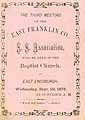 Thumbnail image of East Franklin County Sunday School Association 1875 Meeting cover