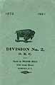 Thumbnail image of Division No. 2, O. R. C. Roster (1872-1921) cover