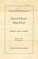 Thumbnail image of Central Colored High School 1927 Commencement cover