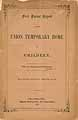 Thumbnail image of Union Temporary Home for Children 1857 Report cover