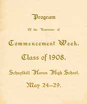 Thumbnail image of Schuylkill Haven High School 1908 Commencement cover