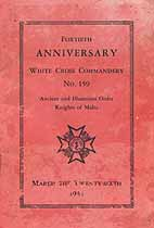 Thumbnail image of White Cross Commandery, No. 159, 1933 Anniversary cover