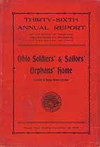 Thumbnail image of Ohio Soldiers' and Sailors' Orphans' Home 1905 Report cover