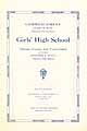 Thumbnail image of Paterson Girls' High School 1923 Commencement cover
