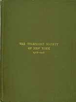 Thumbnail image of Telephone Society of New York 1909-1910 Annual cover